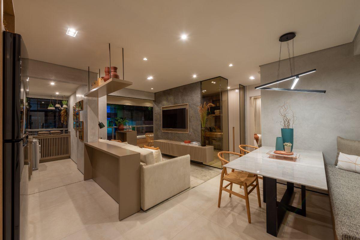 Apartamento decorado – 64 m²