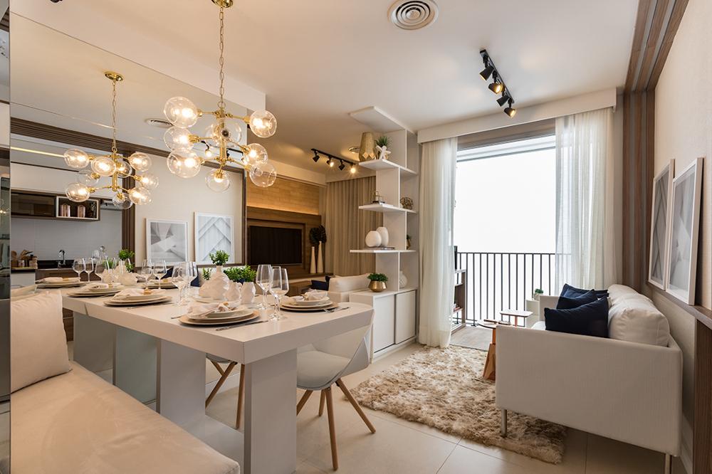 Foto do apartamento decorado - 44 m²
