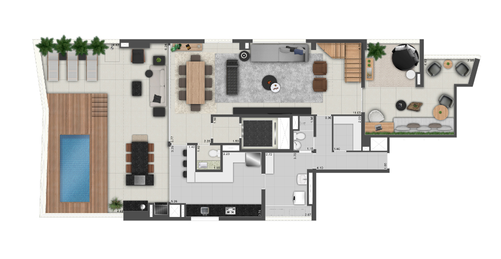 Duplex Inferior - 370m² / 4 suítes