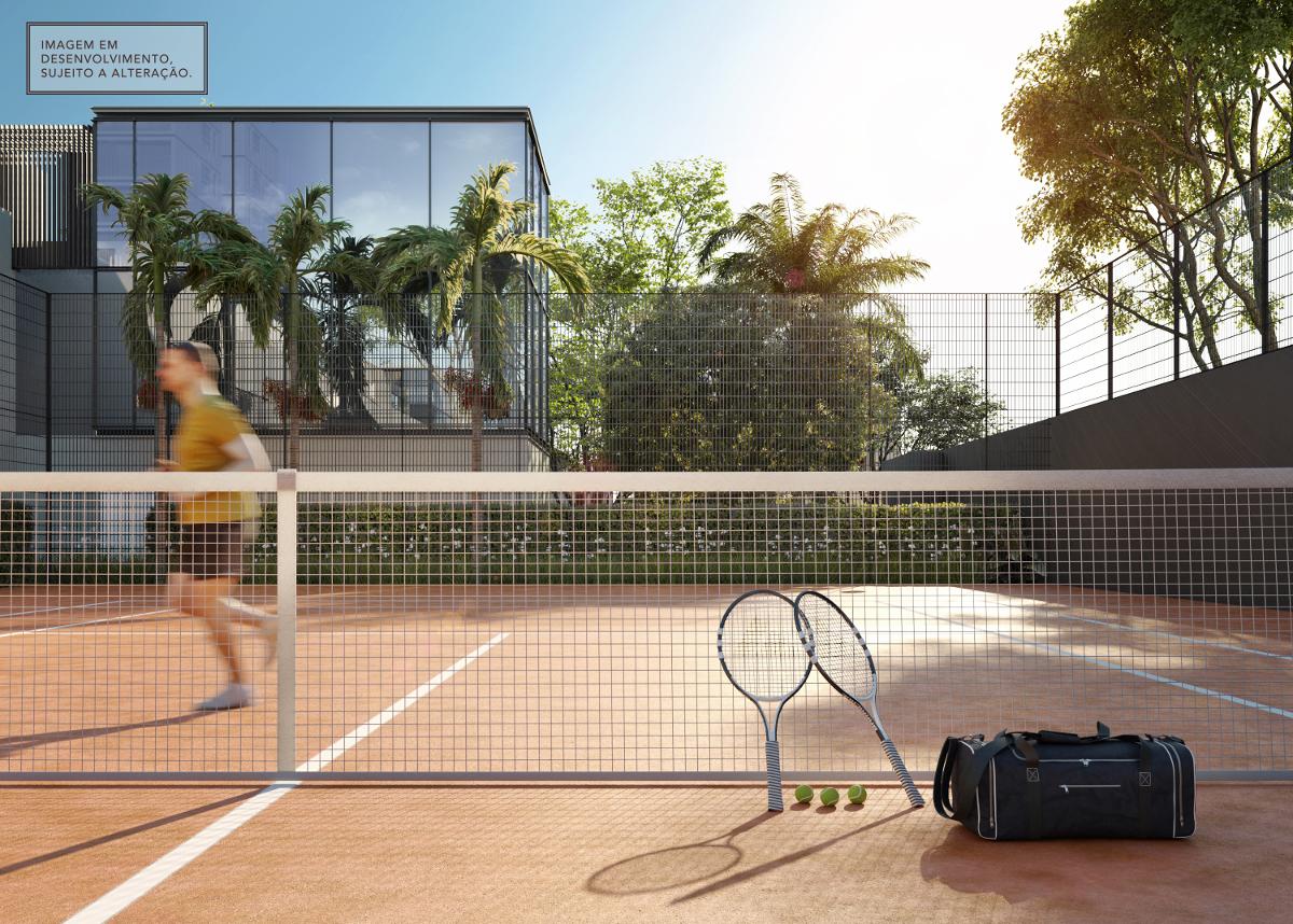 Quadra de tênis (saibro) - Imagem em desenvolvimento, sujeita a alteração.