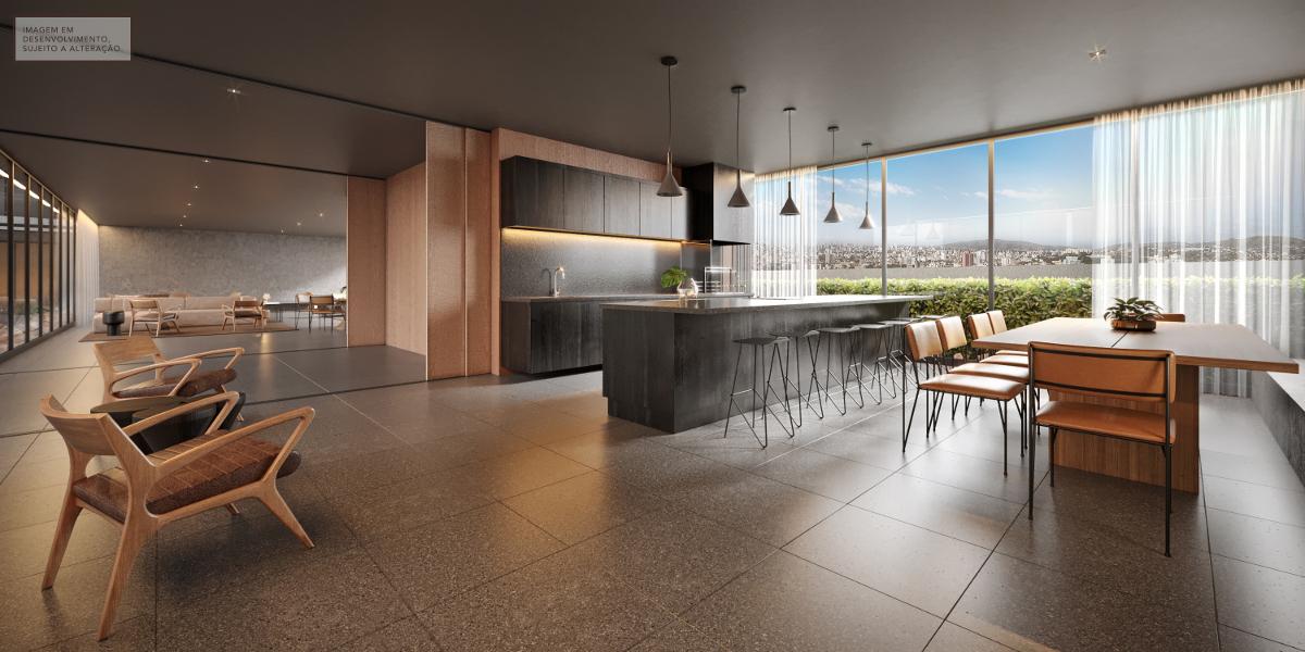 Salão gourmet - Imagem em desenvolvimento, sujeita a alteração.