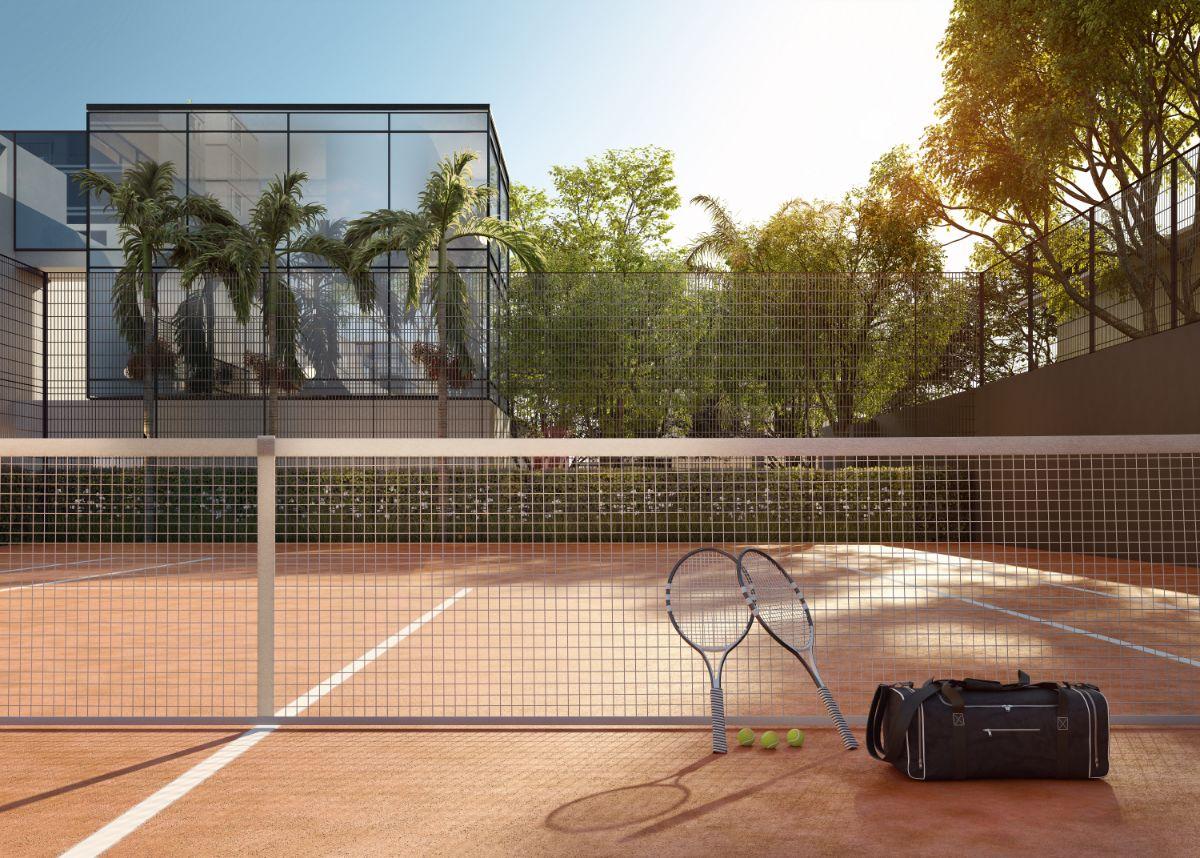 Quadra de tênis (saibro)
