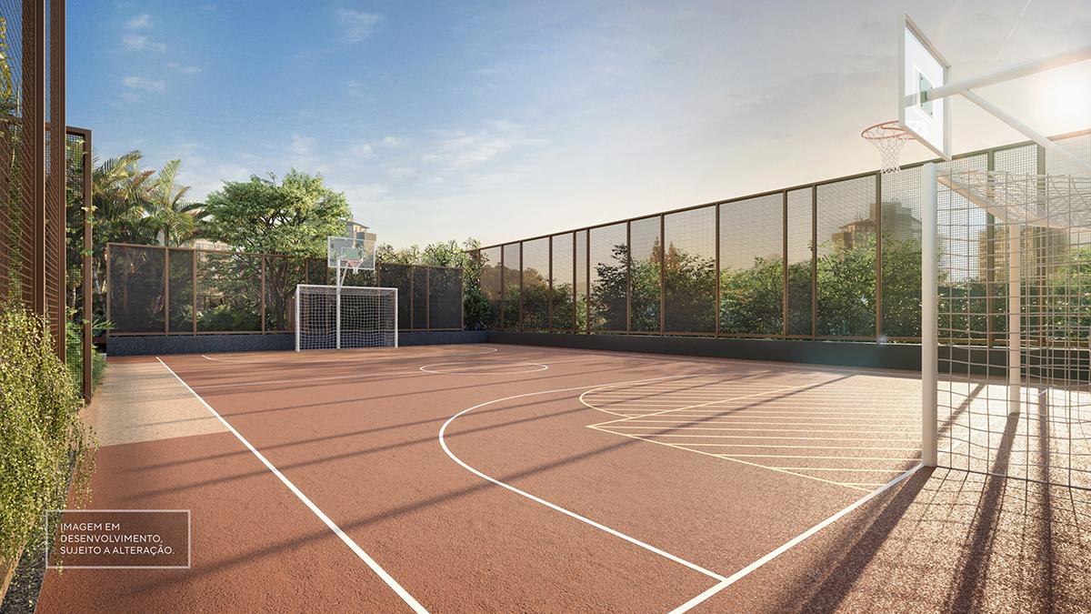 Quadra esportiva -  Imagem preliminar, sujeita a alteração