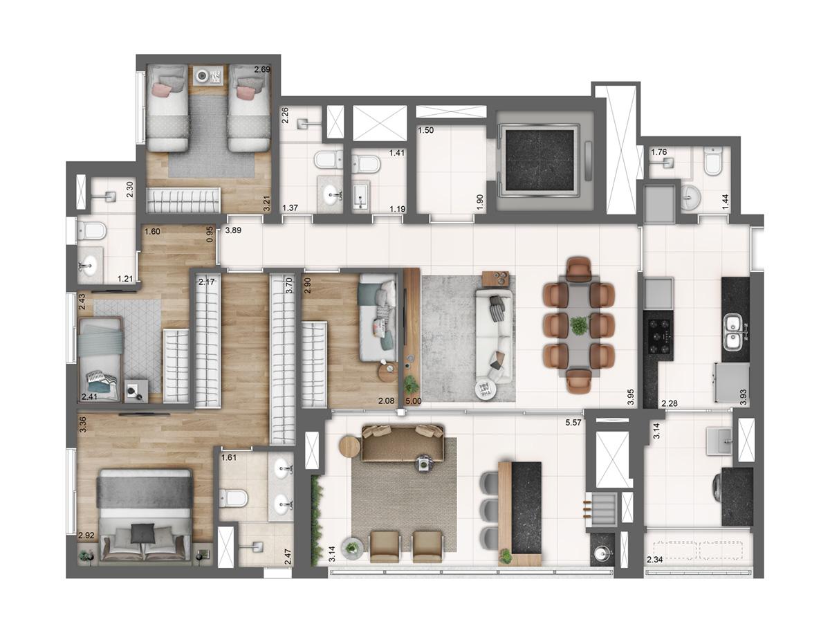 Tipo - 4 dormitórios
