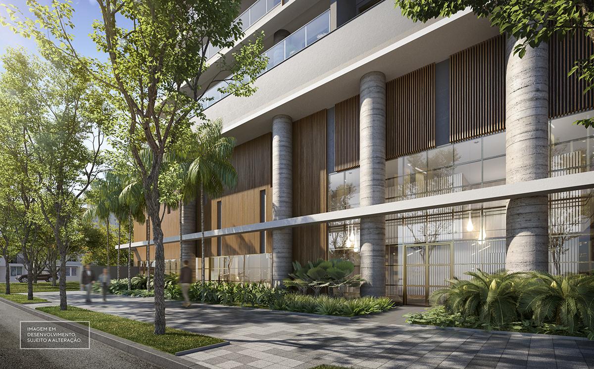 Acesso residencial - Imagem preliminar, sujeita a alteração
