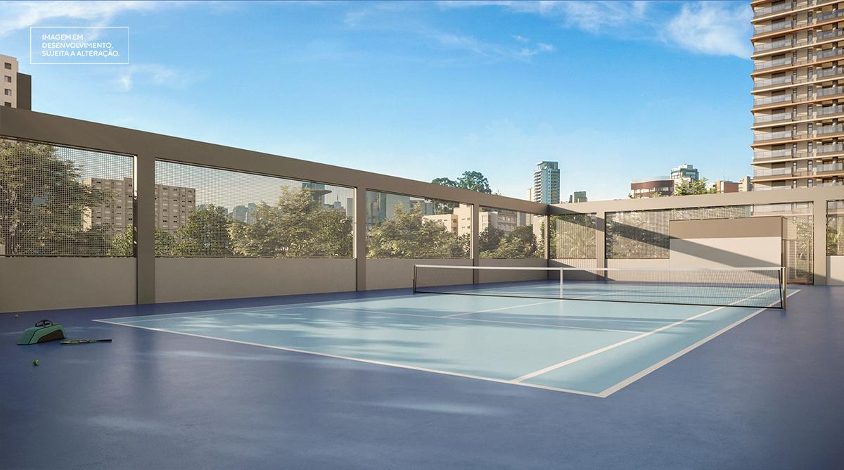 Quadra de tênis - Imagem preliminar, sujeita a alteração