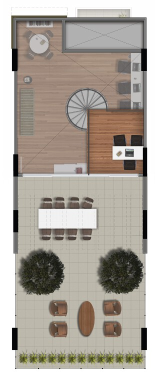 101 m² - pavimento superior