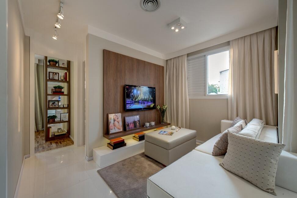 Foto do apartamento decorado 60 m²