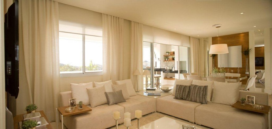 Foto apartamento decorado 137 m² - Living