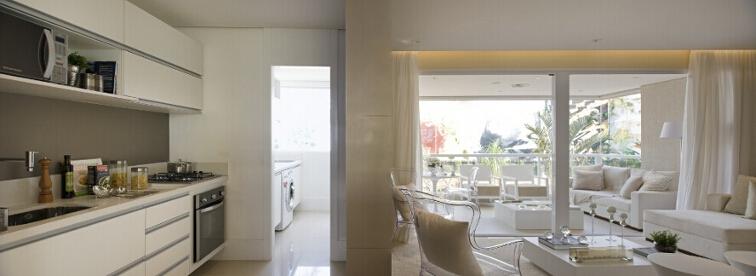 Foto do apartamento decorado de 89m²