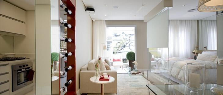Foto do apartamento decorado de 50m²